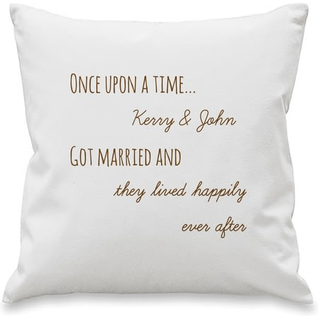 Personalised Once Upon A Time Cushion Cover