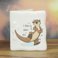 Personalised Otter-ly Adore You Ceramic Message Card