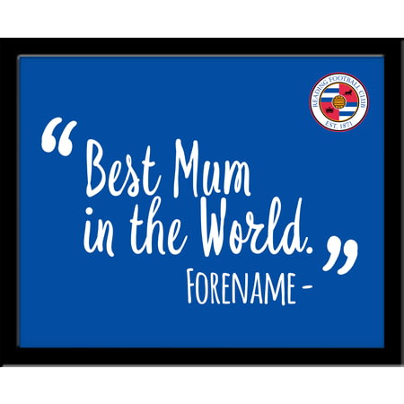 Personalised Reading Best Mum In The World 10x8 Photo Framed
