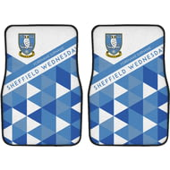 Personalised Sheffield Wednesday FC Patterned Front Car Mats