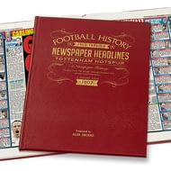 Personalised Tottenham Hotspur Football History Newspaper Book - Leather Cover