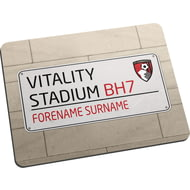 Personalised AFC Bournemouth Street Sign Mouse Mat