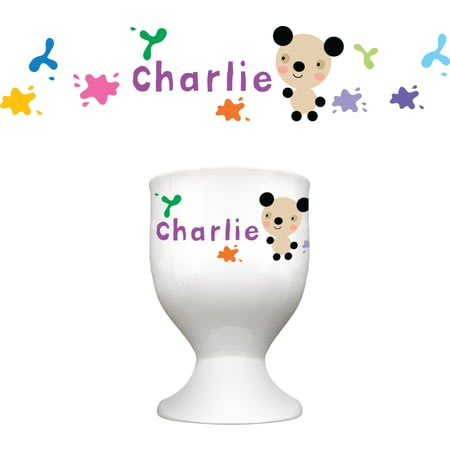 Personalised Arty Mouse Single Character Splash Egg Cup