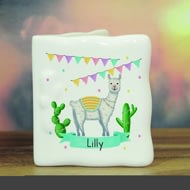 Personalised Llama Fiesta Ceramic Message Card