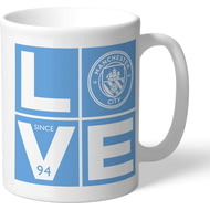 Personalised Manchester City FC Love Mug