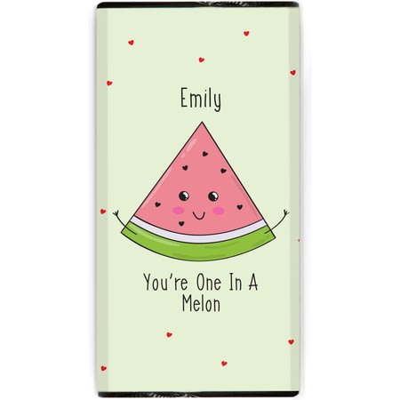 Personalised One In A Melon Chocolate Bar