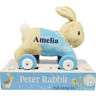 Personalised Peter Rabbit Baby Boys Blue Pull Along Toy