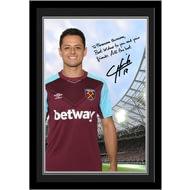 Personalised West Ham United FC Hernandez Autograph Photo Framed