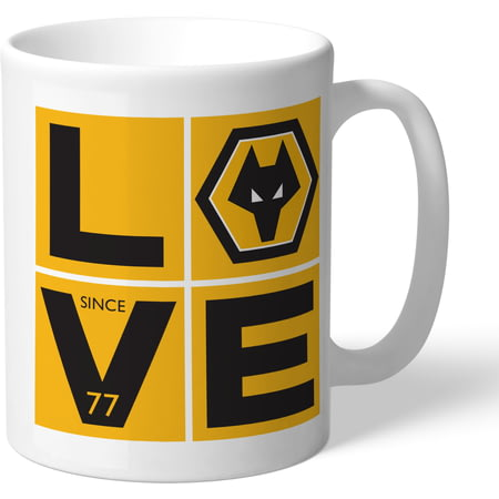 Personalised Wolves FC Love Mug