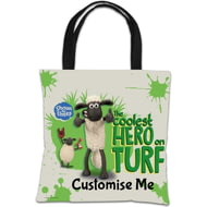 "Personalised Shaun The Sheep ""Coolest Hero On Turf"" Tote Bag"