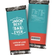 Personalised Best Ever Chocolate Bar Blue & Red