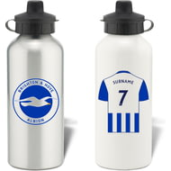 Personalised Brighton & Hove Albion FC Shirt Aluminium Sports Water Bottle
