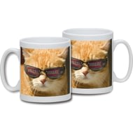 Personalised Cat In Shades Ceramic Mug