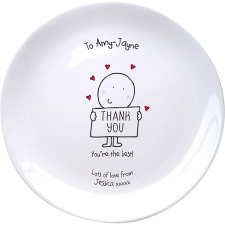Personalised Chilli & Bubble's Thank You Plate