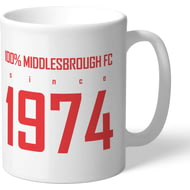 Personalised Middlesbrough FC 100 Percent Mug