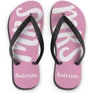 Personalised MRS Medium Flip Flops