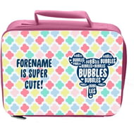 Personalised Powerpuff Girls Bubbles Silhouette Insulated Lunch Bag - Pink