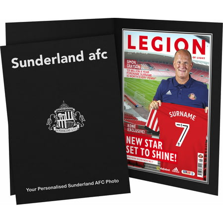 Personalised SAFC Magazine Front Cover Photo Folder
