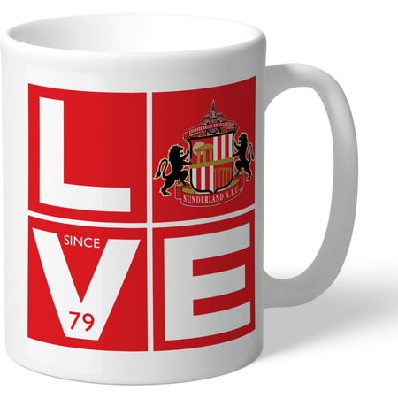 Personalised Sunderland AFC Love Mug