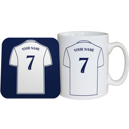 Personalised Tottenham Hotspur FC Shirt Mug & Coaster Set