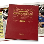 Personalised Millwall United Football Newspaper Book