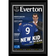Personalised Everton FC Magazine Front Cover Photo Framed - Framed