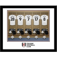 Personalised Fulham FC Dressing Room Shirts Framed Print