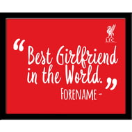Personalised Liverpool FC Best Girlfriend In The World 10x8 Photo Framed