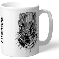 Personalised Marvel Black Panther Sketch Mug