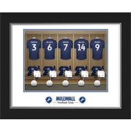 Personalised Millwall FC Dressing Room Shirts Photo Folder