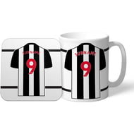 Personalised Newcastle United FC Shirt Mug & Coaster Set