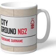 Personalised Nottingham Forest FC Street Sign Mug