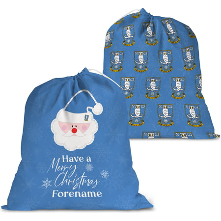 Personalised Sheffield Wednesday FC Merry Christmas Santa Sack