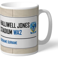 Personalised Warrington Wolves Halliwell Jones Stadium Street Sign Mug