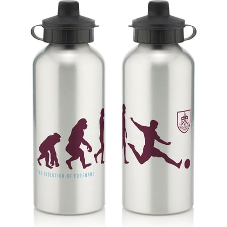 Personalised Burnley FC Player Evolution Aluminium Sports Water Bottle
