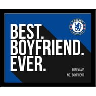Personalised Chelsea FC Best Boyfriend Ever 10x8 Photo Framed