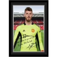 Personalised Manchester United FC De Gea Autograph Photo Framed