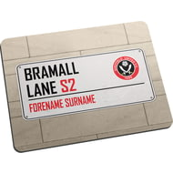 Personalised Sheffield United FC Street Sign Mouse Mat