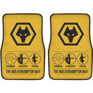 Personalised Wolves Way Front Car Mats