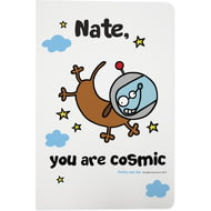 Personalised Cosmic Kitty White Notebook