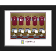 Personalised Aston Villa FC Dressing Room Shirts Photo Folder