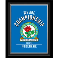 Personalised Blackburn Rovers FC We Are Championship Photo Framed