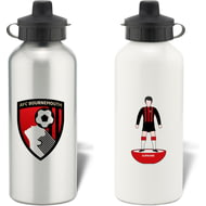 Personalised AFC Bournemouth Player Figure Aluminium Sports Water Bottle
