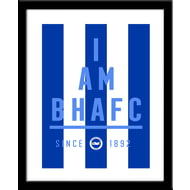 Personalised Brighton & Hove Albion FC I Am Framed Print