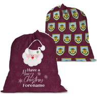 Personalised Burnley FC Merry Christmas Santa Sack