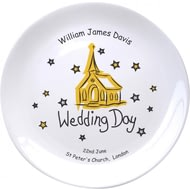 "Personalised Church Wedding Day 8"" Coupe Plate"