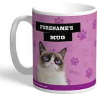 Personalised Grumpy Cat - Bad Day Pink Mug
