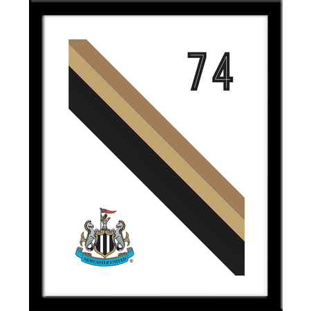 Personalised Newcastle United Stripe Framed Print