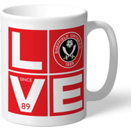 Personalised Sheffield United Love Mug