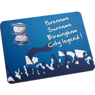 Personalised Birmingham City FC Legend Mouse Mat